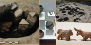 Bulgaristanda 120 Neolitik Ritüel Çukuru ve 7000 yıllık 2 boğa figürini bulundu