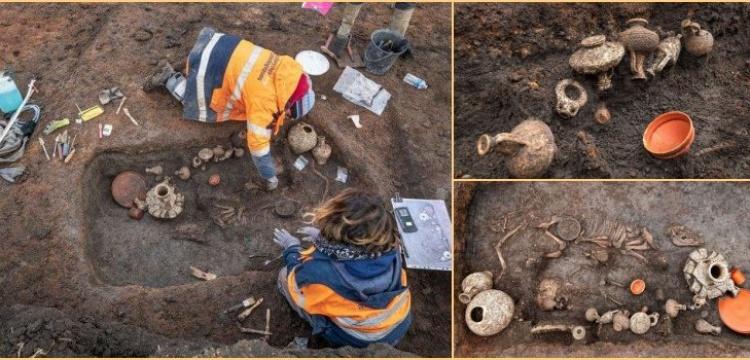 İki bin yıl önce mezara köpek yavrusu ile birlikte gömülmüş bebek bulundu