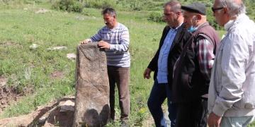 Erzurumda Türklere ait olduğu değerlendirilen 3 bin 500 yıllık heykel bulundu