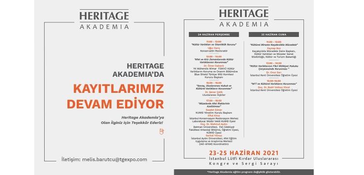 Heritage İstanbul Akademia kayıtları devam ediyor