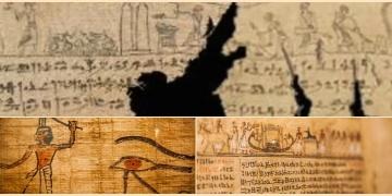 2.300 yıllık kefen parçalarına Ölüler Kitabından sahneler işlenmiş