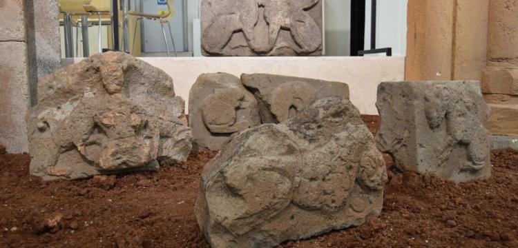 Ani Ören Yeri'nde bulunan aslan kabartmalı taşlar ziyarete açıldı