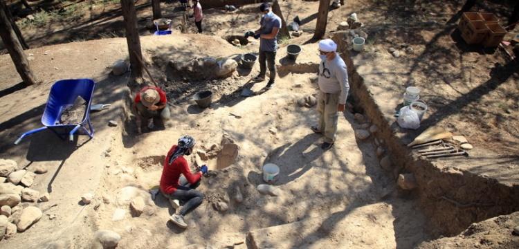 Yumuktepe Höyüğü'nde Bizans dönemine ait depo alanı bulundu