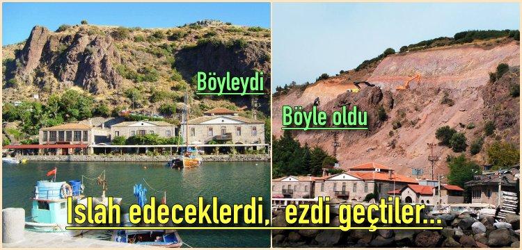 Assos'ta kaya ıslah edilecekti, doğal doku tahrip edildi!