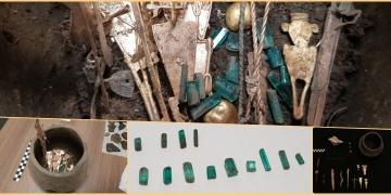 Kolombiyada içinden zümrütler çıkan 8 küp bulundu