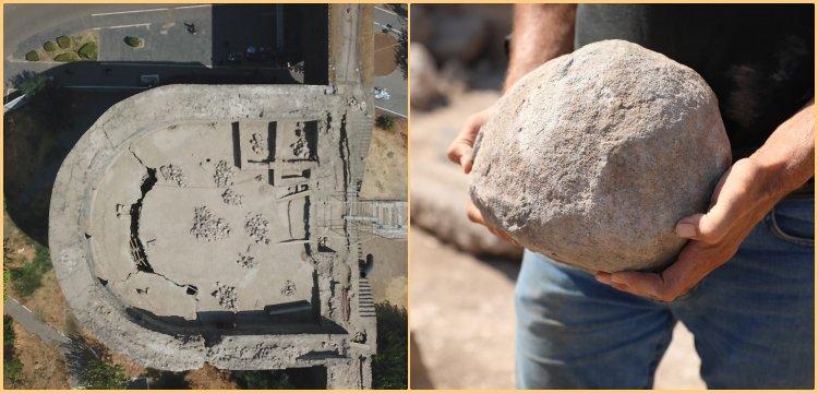 Diyarbakır'ın Urfakapısında kullanılan mancınık alanı keşfedildi