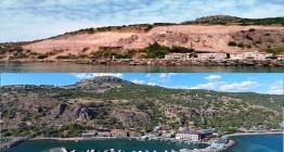 Assos antik liman bölgesinde kaya ıslahı çalışmaları
