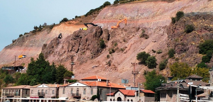 Assos'taki kaya operasyonu Avrupa Peyzaj Sözleşmesi'ni ihlal ediyor