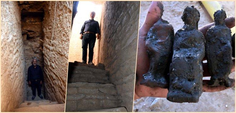 Beçin'de Mithradates kalelerindeki tünelleri andıran bir kuyu bulundu