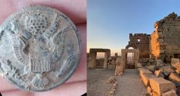 Zerzevan kalesi kazılarında Amerikan rozeti bulundu