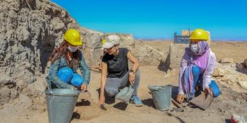 Çınar kaymakamı Zerzevan kazılarında gönüllü olarak çalışıyor